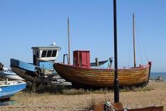 Fishing Boat on Beach Stock Photos