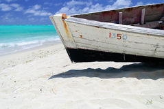Fishing boat on the beach, Rodrigues Stock Photos