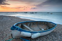 Boats at Selsey. Fishing boat on the beach at Selsey Bill on the Sussex coastline Royalty Free Stock Photography