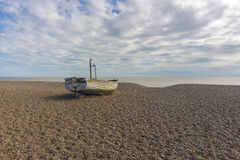 Fishing boat on the beach Stock Photos