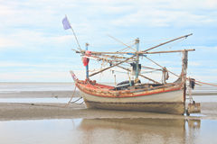 Fishing boat on the beach Royalty Free Stock Images