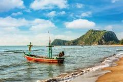 Fishing boat at beach on summer season Stock Photo