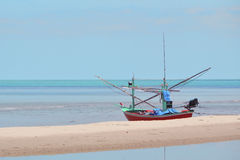 Fishing boat on the beach in Thailand Royalty Free Stock Images