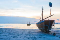 Fishing boat on a beach Royalty Free Stock Image