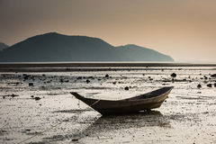 Fishing boat on a beach Royalty Free Stock Images