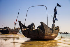Fishing boat on beach Royalty Free Stock Images