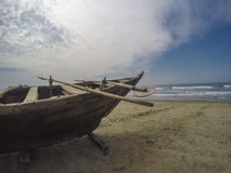 Fishing boat on the beach. Wooden fishing boat on the beach Royalty Free Stock Photography