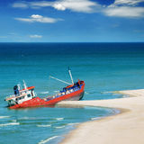 Fishing boat beached Royalty Free Stock Photography