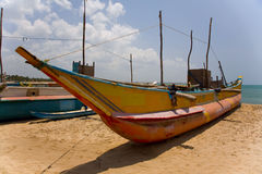 Fishing boat in beautiful beach Stock Images