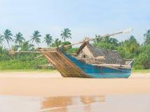 Fishing boat at beautiful ocean palm beach Stock Photography