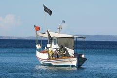 Fishing boat. Beautiful fishing boat on the sea Stock Photography