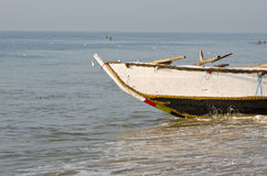 Fishing boat on Bengal sea beach, India Stock Images