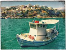 Fishing boat. S Greece Crete Stock Photography