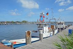 Fishing Boat,Breege,Ruegen island,Baltic Sea,Germany Royalty Free Stock Photo