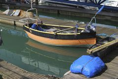 Fishing boat. Brighton Marina. Sussex. England. Moored fishing boat at Brighton Marina. East Sussex. England Royalty Free Stock Images