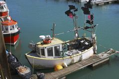 Fishing boat at Brighton Marina. UK Royalty Free Stock Photo