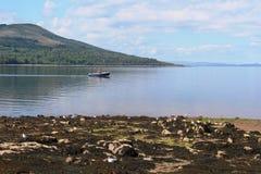 Fishing boat in Brodick Bay Isle of Arran Scotland Stock Photo