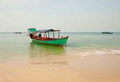 Fishing boat, Cambodia Stock Images