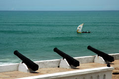 Fishing boat from Cape Coast Castle Stock Photos