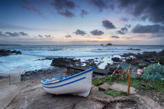 Fishing Boat on Cape Cornwall Royalty Free Stock Photography