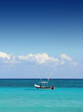 Fishing boat in the Carribean sea Royalty Free Stock Photo