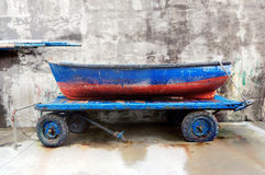 Fishing boat on cart Stock Photography
