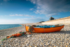 Fishing Boat on Chesil Beach Royalty Free Stock Photos