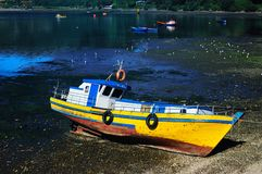 Fishing boat in Chile Stock Photos