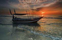 Fishing boat on a china sea,Malaysia Stock Image