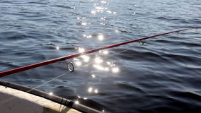 Fishing from a boat Stock Photo