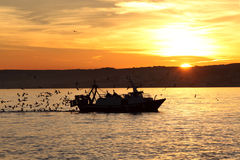 Free Fishing Boat Coming Back Home Stock Photo - 28487630