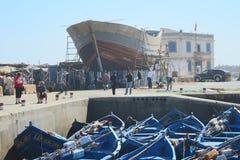 Fishing Boat Construction Stock Photo