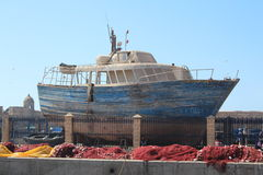 Fishing Boat Construction Royalty Free Stock Photography