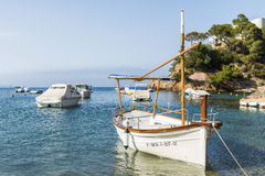 Fishing boat in the Costa Brava, Catalonia, Spain Royalty Free Stock Image