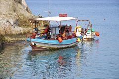 Fishing boat, Crete Royalty Free Stock Image