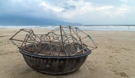 Fishing boat in Danang beach, Viet Nam Stock Image