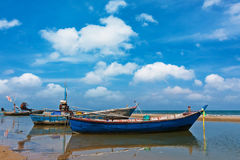 Fishing boat on daylight Royalty Free Stock Photography