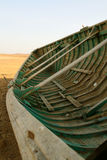 Fishing boat in the desert. Paracas national reserve, peru royalty free stock photo