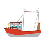 fishing boat design. Fishing boat icon. sea transportation nautical and marine theme.  design. Vector illustration Royalty Free Stock Photo