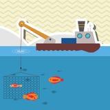 Fishing boat design. sea concept. sport illustration Royalty Free Stock Image