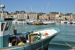 Fishing boat at Dieppe in France Stock Image