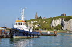 Fishing boat at Dieppe in France Stock Photography