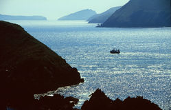 Fishing boat in Dingle Bay. In the West Coast of Ireland Royalty Free Stock Photos