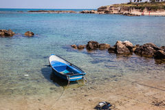 The fishing boat and diving equipment Royalty Free Stock Photos
