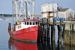 Fishing boat at the dock. Provincetown, MA - Fishing boat at the dock Stock Photos