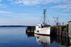Fishing Boat at Dock Royalty Free Stock Photography