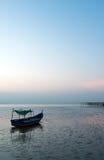 Fishing boat on dock Stock Image