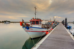 Fishing boat on the dock Portugal. Royalty Free Stock Photos