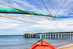 Fishing boat with dock Royalty Free Stock Photos