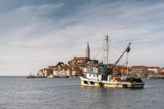 Fishing boat at the dock royalty free stock image